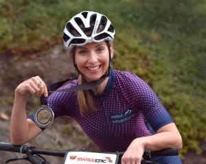 Endurance mountain biker Haley Van Leeuwen at her home in Waverley yesterday. Photo: Peter McIntosh
