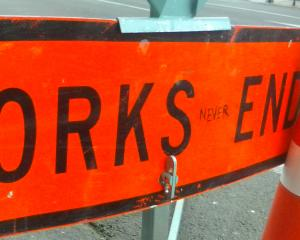 Many around Dunedin will sympathise with this telling piece of roadworks rage on a sign in Moray...