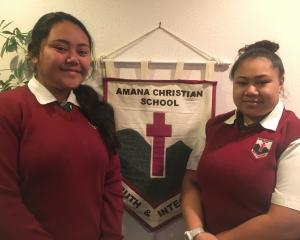 (left) 2nd place Lilia Solofuti competed in year 9. (right) Jeanne Laban 3rd place competed in...