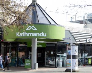 Kathmandu's Dunedin outlet. Photo: Linda Robertson