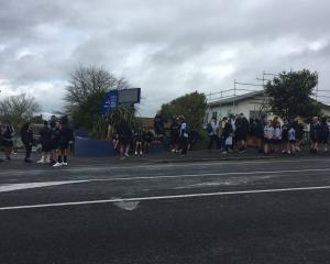 Fraser High School students stage a mass walk out over their principal's controversial speech on...