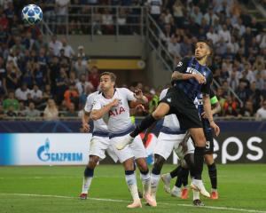 Matias Vecino scores for Inter Milan against Tottenham in this morning's Champions League...