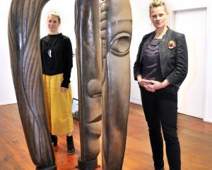 Vanessa Jones (left) and Lisa Wilkie, wearing jewellery by Jane Dodd and Octavia Cook, with Terry...
