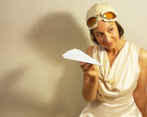 Alex Ellis plays the role of glamorous aviatrix Jean Batten. Photo: Supplied
