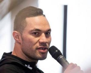 Joseph Parker speaking at the NZ First annual convention. Photo: NZ Herald