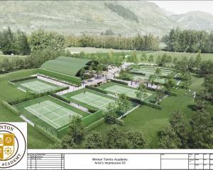An artist's impression of the Winton Tennis Academy planned for Bridesdale Farm Developments Ltd...