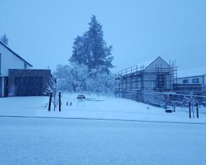 Snow blankets Queenstown this morning. Photo: Paul Taylor