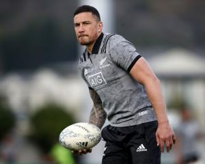 Sonny Bill Williams at All Blacks training this week. Photo: Getty Images