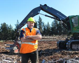 Tony Gamble, of Gamble Forest Harvesting, standing at Flagstaff Forest, said there was much more...