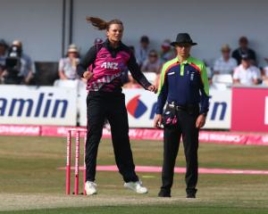 Suzie Bates in action for the White Ferns against England earlier this year. Photo: Getty Images