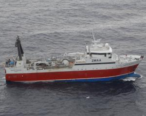 A 2010 file shot of the 64m fishing trawler Amaltal Atlantis, owned by Talley's Group. PHOTO:...
