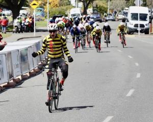 Aucklander Morgan Smith (Aardvark Excavators) celebrates victory in stage two of the Tour of...