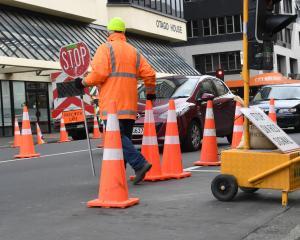 Trafffic delays in Dunedin. Photo: ODT