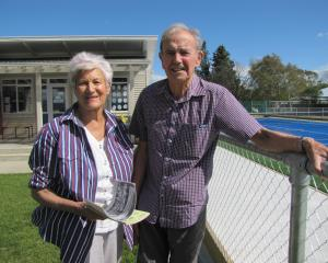 Former Poolburn School teachers Esther and Colin McKay, of Alexandra, at the jubilee. Photos: Pam...