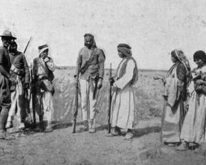 Arabs in the employ of the British intelligence department in Palestine. - Otago Witness, 9.10.1918