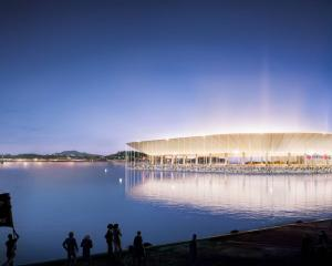 Artist's impression of the proposed Auckland Waterfront Stadium sunken stadium. Photo: Supplied