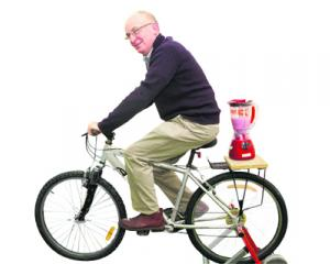 Fitness boost . . .  ''Pedal for a smoothie'' will be on offer at the Men's Health Expo On...