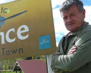Lawrence-Tuapeka Community Board member Geoff Davidson, pictured beside the South Otago town's...
