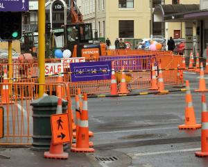 The intersection of Great King and St Andrew Sts where bus hub work is taking place. PHOTO:...