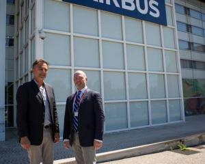 Jean-Louis Bellan of Airbus and Steve Cotter, CSST CEO meet at Airbus Defence and Space...