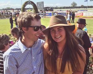 Elle Perriam with her late boyfriend, Will Gregory, at a race meeting. Photos: Supplied