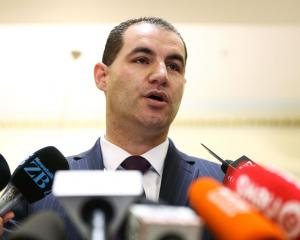 Jami-Lee Ross talks to media during a press conference at Parliament today. Photo: Getty Images