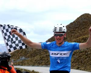Michael Vink takes the chequered flag in the tour of Southland. Photo: Getty Images