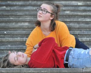 Dunedin thespians Sophie Baron (top), of Columba College, and Chloe Robertson, of Queen's High...