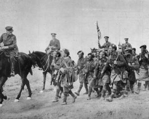 Field Marshal Douglas Haig congratulates Canadians on their gallant work at the beginning of the...