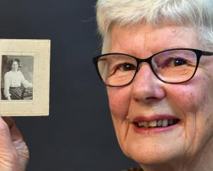 Jennifer Harford with a portrait of her great aunt Eva Cooper, a Dunedin Hospital nurse who died...