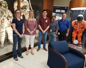 Lanaco head of technology Shaun Tan (third from left) recently visited the Johnson Space Centre...