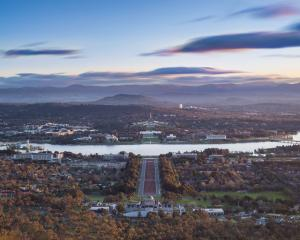 The view of Canberra from the Mount Ainslie lookout. PHOTOS: MIKE YARDLEY