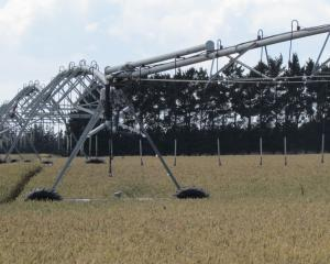 Why reinvent the wheel and come up with a new design? This irrigator on the Waitaki River plains...