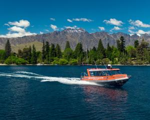 Queenstown Water Taxis' new, custom-built 36-seat boat pictured on Lake Wakatipu. The company is...