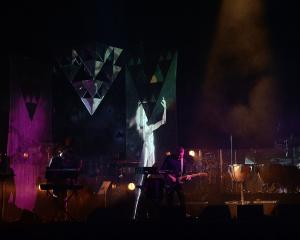 Rhian Sheehan performs an audio visual show with members of the Dunedin Youth Orchestra and...