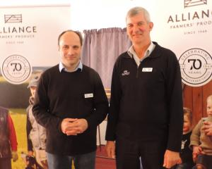 Alliance Group chief executive David Surveyor (left) and chairman Murray Taggart updated...
