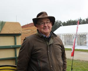 Grant Vickers, of Waikouaiti, hopes to have a replica Cobb & Co wagon completed. Photo: Ella...