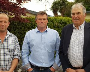 Enjoying a break in Wanaka are (from left) Rob McQueen, of Teviot, Beef + Lamb New Zealand's...