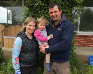 Bruce and Jenny Paterson, with daughter Nadia (2), are hosting a Southland Next Generation...