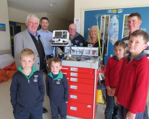 Recipients of funds raised from the Rabobank Central Otago Winter Feed Competition and auction in...
