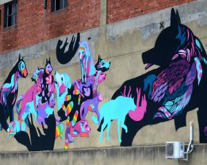 Mica Still's dog mural on Stafford St. Who knew? Photo: Gerard O'Brien