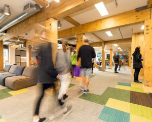 Massive laminated wood beams and warm, light filled spaces provide the structure for Te Pa Tauira.