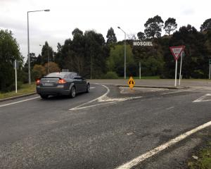 Mosgiel intersection SH1 and SH87