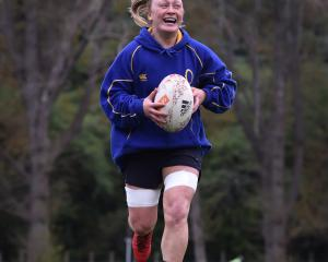 Zoe Whatarau in action at Otago Spirit training this week before this weekend's Farah Palmer Cup...