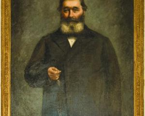 This 1885 portrait of James Macandrew by Kate Sperry hangs in the stairwell of the University of...