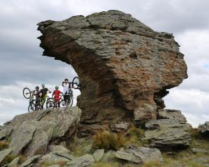 Central Otago mountainbikers (from left) Ben Wearing, Thomas Begg, Cam Moir and Felix Schaap...