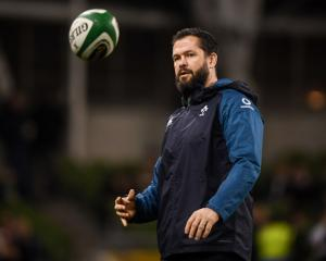Ireland defence coach Andy Farrell before the test against the All Blacks. Photo: Getty Images
