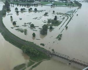 The Clutha River hit its highest level since 1999 yesterday. Photo: Otago Regional Council