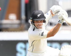 BJ Watling on his way to 49 in New Zealand's first innings. Photo: Getty Images