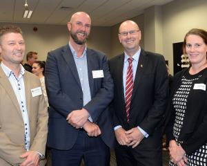 At the announcement of this year's finalists: (left-right) David Shelton, Westpac area commercial...